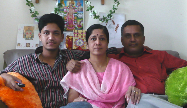 Sreekrishnan with Wife and Son